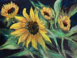 Garden Sunflowers by Wulff-Arts