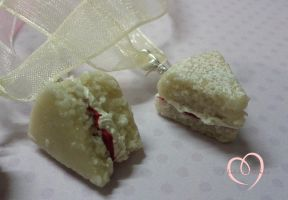 Victorian sponge Cake necklaces close up by ilikeshiniesfakery