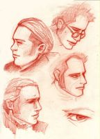 Faces of Master and Commander by LilyLarkin