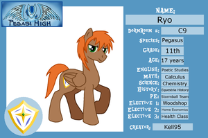 Pegasi High Student ID Card- Ryo by Kell95
