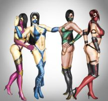 hottest girls of mortal kombat by SrATiToO