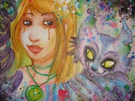Alice and Cheshire by My-Michelle