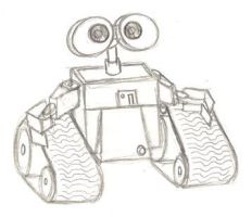 Wall E sketch by PixarVixen