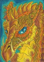 Firethorn Dragon ACEO by Eviecats