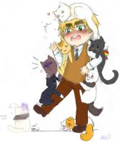[APH] Kitty apocalypse by NulaSweetCat