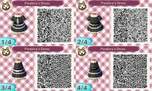 Pandora's Dress QR code for acnl by xKiritoXD