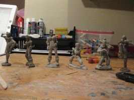 Clay Street Fighter Statues by tdub123