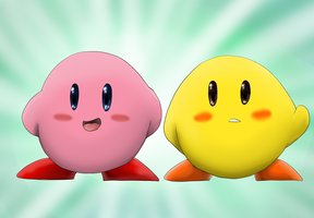 Kirby and Keeby by Riadorana