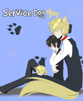 Commission 2: doujin Service Dog by artist-san