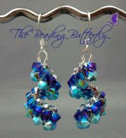 Purple Haze Vertigo Earrings by beadg1rl
