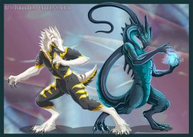 Sergal vs Dragon by DrakainaQueen