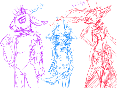Vivziepop,Lupisvulpes and Scotch sketches | WIP | by Just-Nekuroo