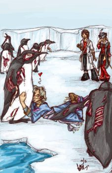 Undead Penguins - colored by fainting-goat
