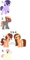 MLP shipping Adopts - CLOSED by Br0kenP0nies