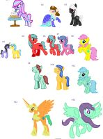 [SALE!] EVERYTHING'S 1 POINT! MLP ADOPTABLE BATCH by EpicBunnyadopts