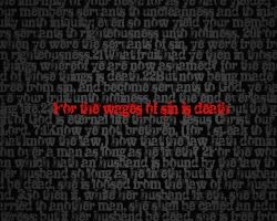 The wages of sin is death- zit by christians