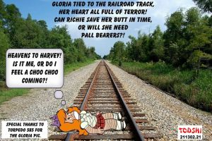 Teen Gloria gets Railroaded. by todshi