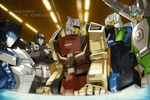 Headmasters in base by SoundWaver1984