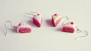 Cakes earrings by Kyandi-charms
