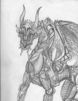 Dragon Series: 5- Mechanical Dragon by TheWolverineCello