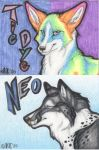 Neo and TieDye Badges by kcravenyote