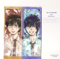 Blue Exorcist - Handmade Bookmarks by yoolin