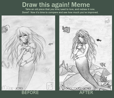 Draw This Again meme: My dear mermaid by Pandora-Valshe