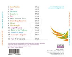 CD 'Beautiful World' back cover by deweber