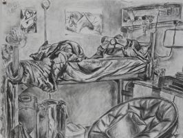 bed and bedroom with sighting homework 2 by LullaNonseSong