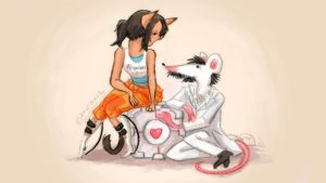 The Cat and the Rat by raintalker