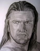 WWE Triple H by VinceArt