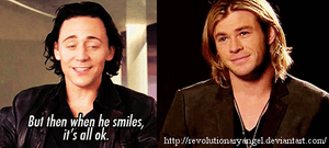 When Chris smiles... by RevolutionaryAngel