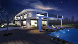 Architectural 3d visualisation - outdoor night by nazmoza