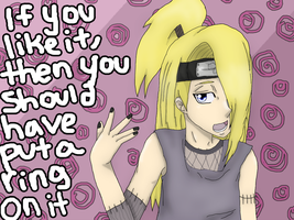 Deidara: Put a ring on it by IdenCat