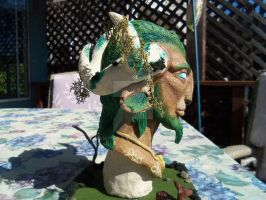 Cernunnos Bust - Completed 2 by vampire-L