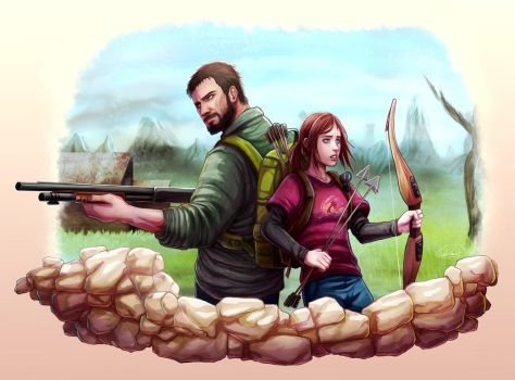 Joel and Ellie by GoldenMuseX
