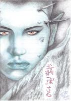 Luis Royo Evolution Sketch by Buachall