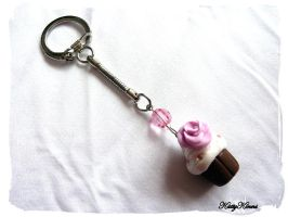 Vanilla Cupcake Keyring by Cateaclysmic