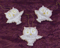 Owl Cookie Ornaments 2 by MorganCrone