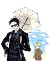 Crowley and Sunshade by zzigae
