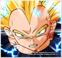 Vegeta Attacks by DoooM