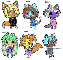 Chibi Animals Group by WarriorCatLuver123