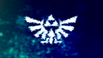 Hylian Crest: 'Lake Hylia Splash' by CosmicWaffleBison
