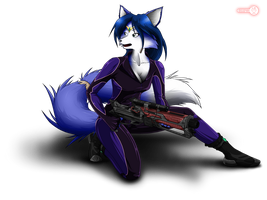 Krystal - on the battlefield by Red-Indicator