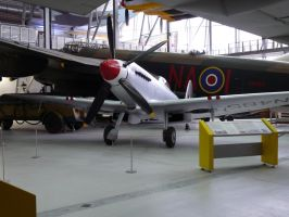 Spitfire and Lancaster at Duxford by Breezypants