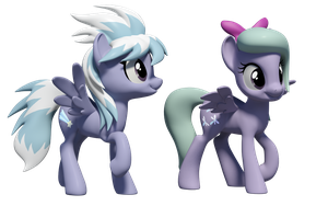 Flitter and Cloudchaser 3D Models by Clawed-Nyasu