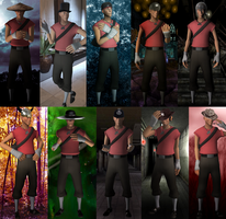 TF2: Scout's new Hat Collection by SovietMentality
