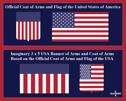 USA Banner Of Arms by KenScherer