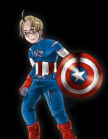 The Anime Avengers-America as Captain America by mosobot64