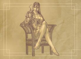 Commish#27 The best chair i drew in my life by 1FAB
